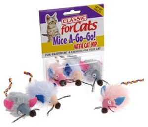 Classic for Cats Wide Eyed Shaggy Mice