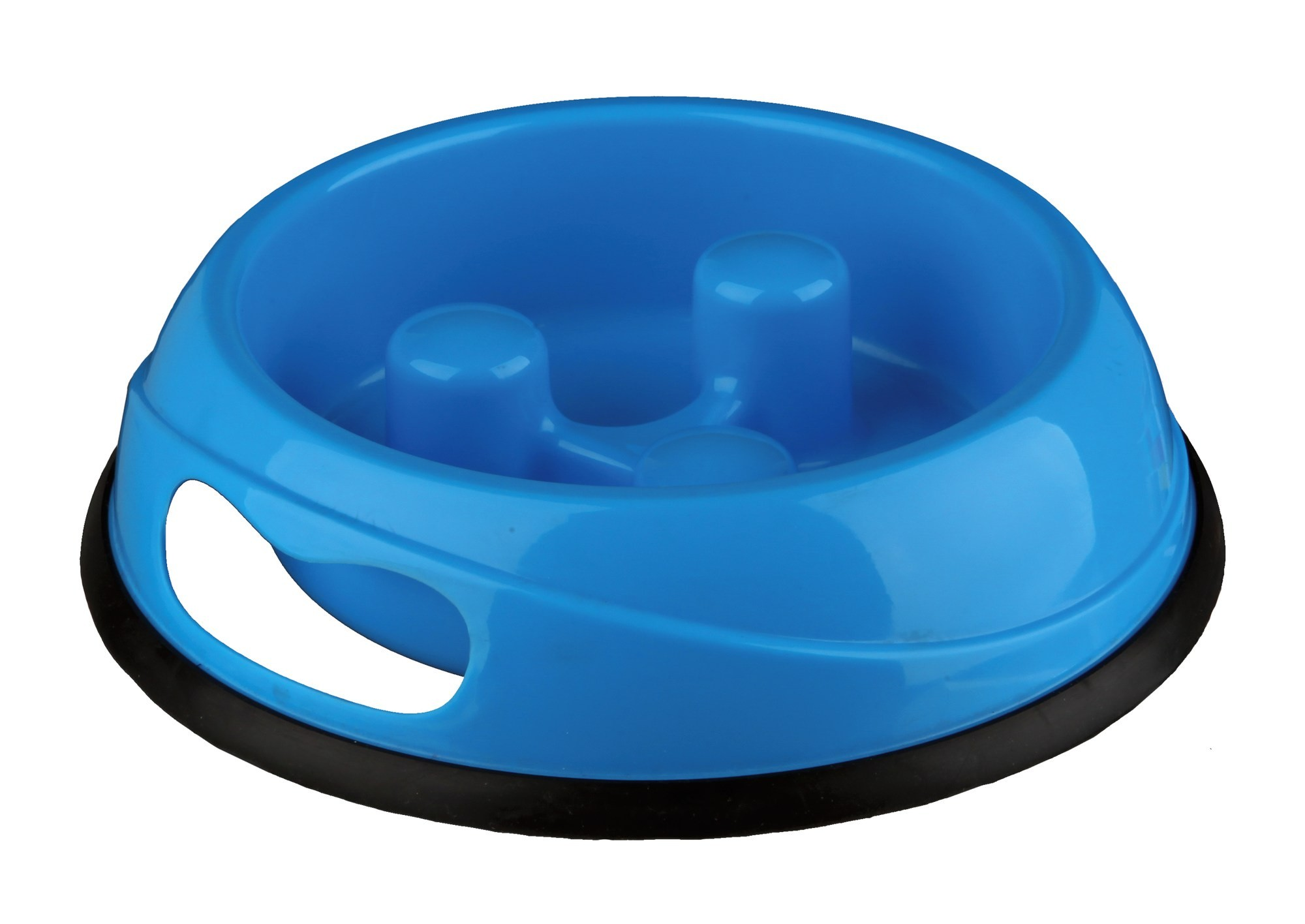 Slow Feed Plastic Bowl Dog 0.45 l/ø 20 cm - BLUE