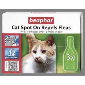 Beaphar Cat Spot On Repels Fleas 12 Week Protection