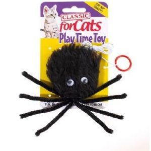 Classic for Cats Black Furry Spider