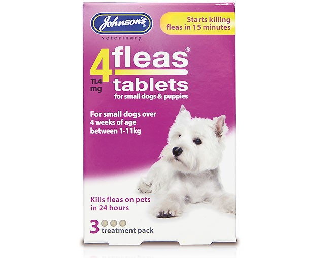 4fleas Tablets for Puppies & Small Dogs