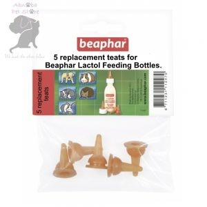 5 x Replacement Nipples by Beaphar (Also fit our petag 2oz bottle)