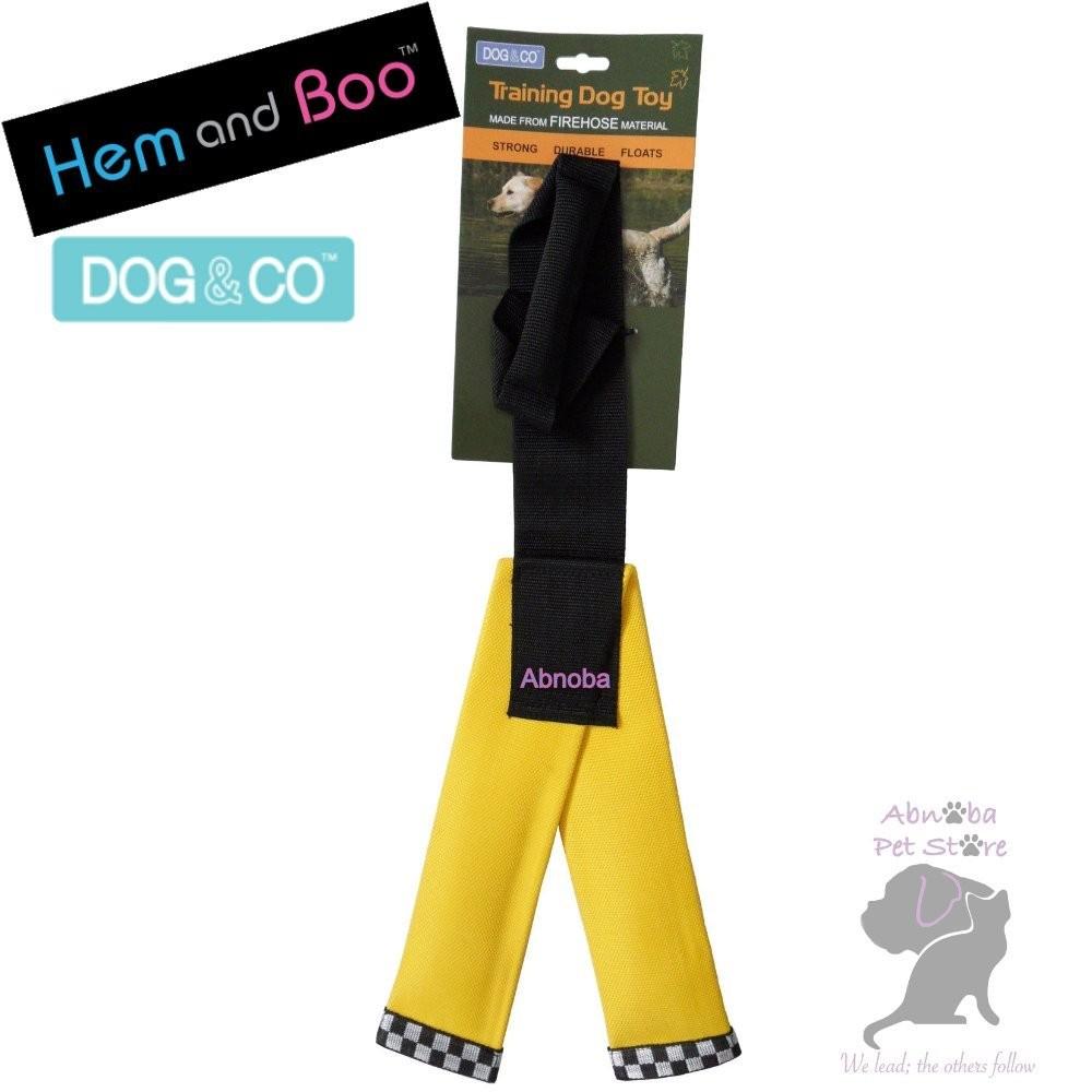 YELLOW Hem & Boo FIREHOSE Y SHAPE Dog Training Toy Dog & Co tightly woven nylon shell …