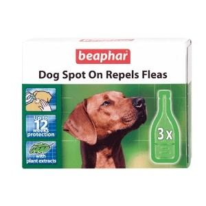 Beaphar Dog Spot On Repels Fleas 12 Weeks Protection
