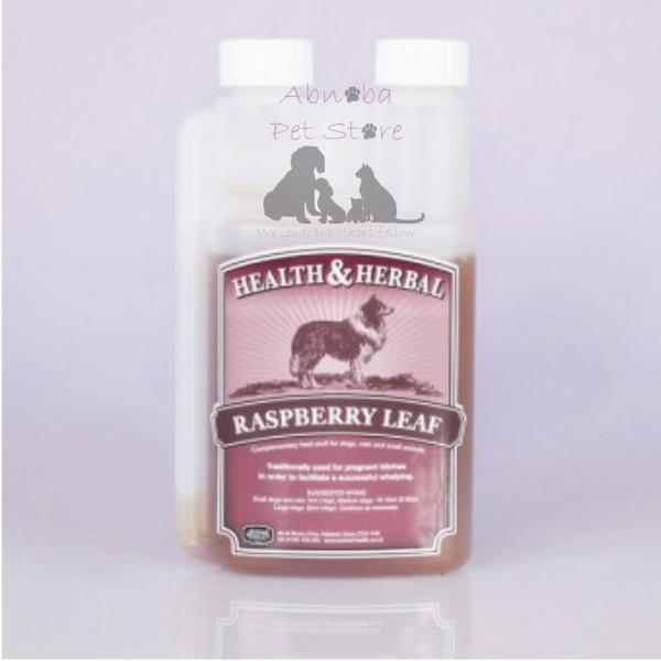 250ml Animal Health Raspberry Leaf Pregnancy aid pregnant bitches facilitate a successful whelping