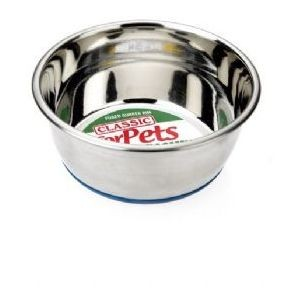 Heavy Weight Dog Diner Range Stainless Steel Non-Slip Dish 8″ dia