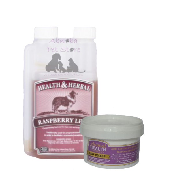 Animal Health Easy Whelp & Raspberry Leaf twin pack Essential for dog breeders whelping kits