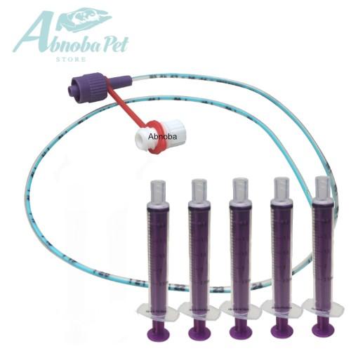 NEW LONGLIFE Tube Feeding Kit - 5 French Tube, 5 x 2.5ml Syringes