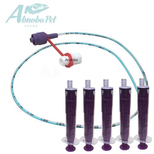 NEW LONGLIFE Tube Feeding Kit - 5 French Tube,  5 x 10ml Syringes