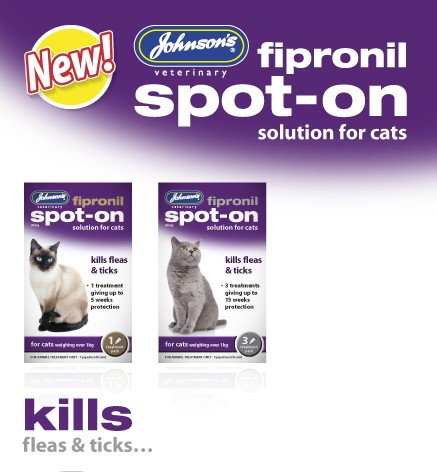 NEW Johnsons Fipronil Spot On Cat - 15 Weeks Protection