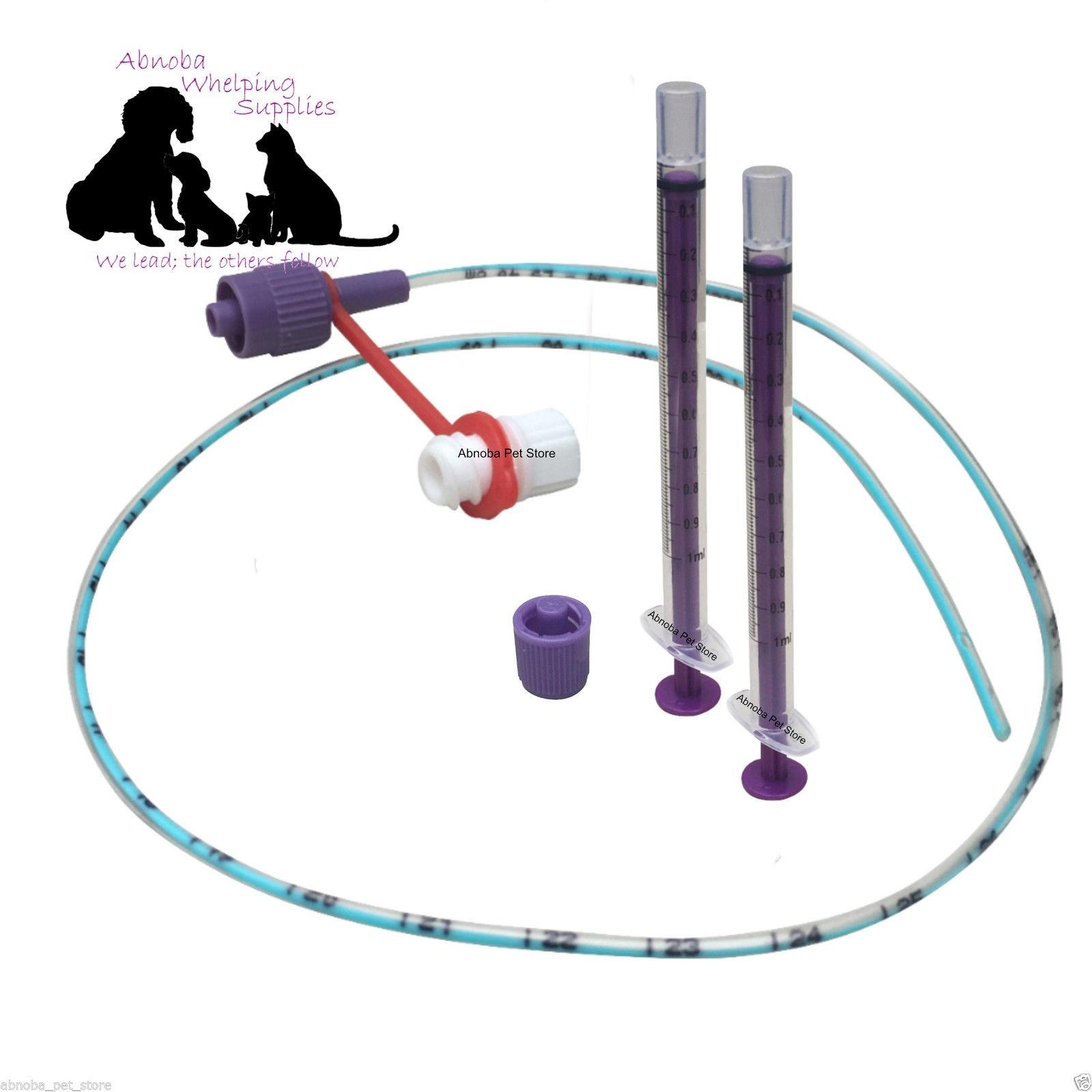 NEW LONGLIFE Tube Feeding Kit - 4 French Tube, (1.33mm) 2  x 1ml Syringes & Cap