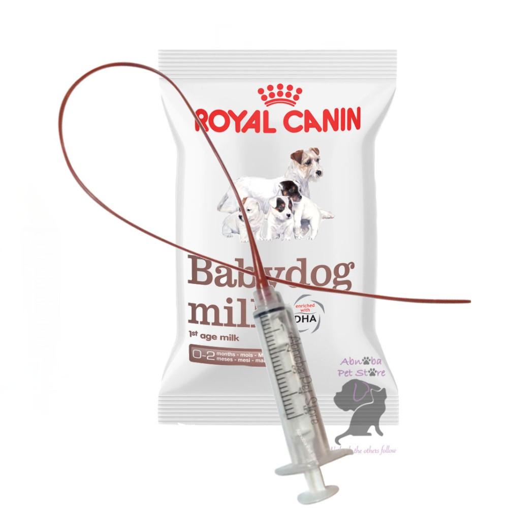 3.5F Sterile Feeding Tube & Syringe with 100g Royal Canin Babydog Milk
