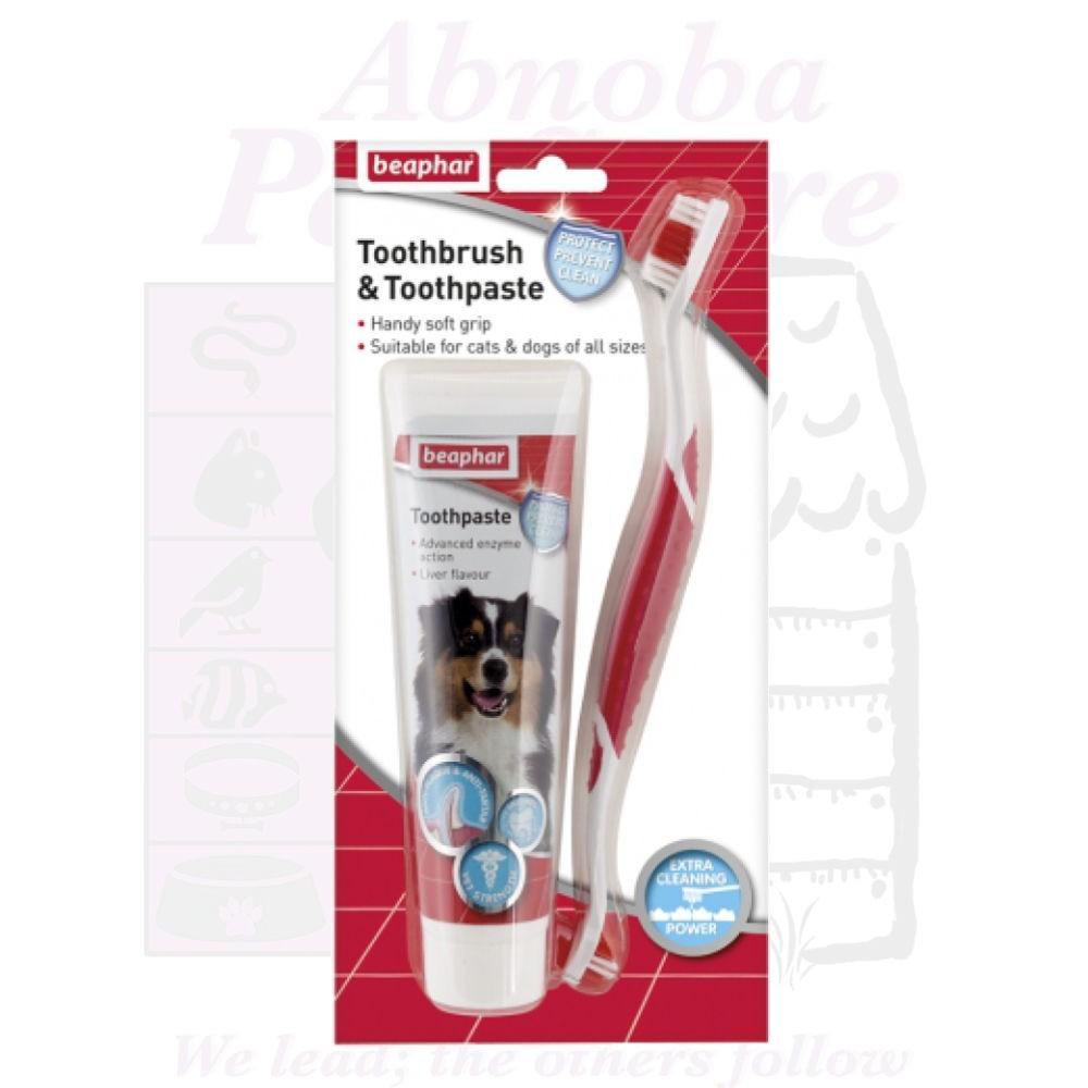 Beaphar Dog Toothbrush & Toothpaste Kit