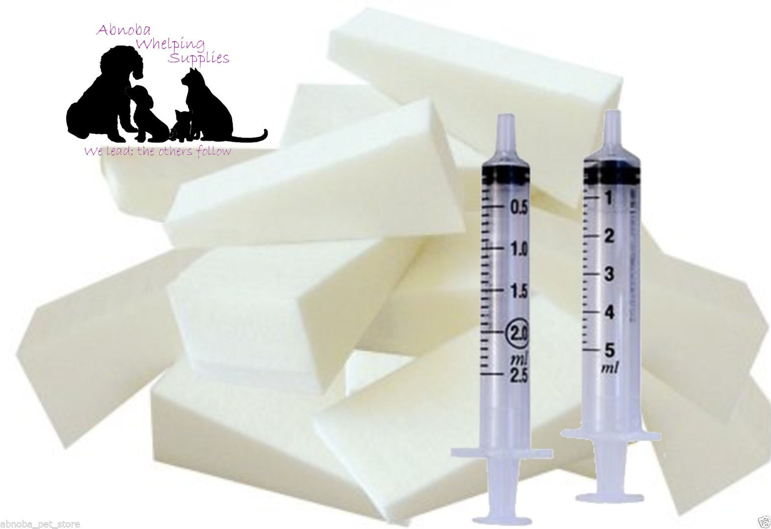 Nursing Sponge Kit Wedges & Feeding Syringes x 8 Sponges