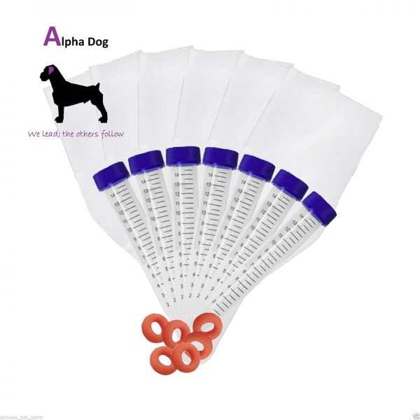 6 Canine Disposable sheath / liner kit with syringes & centrifuge tubes