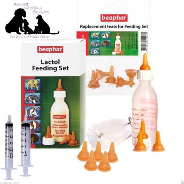 Beaphar Lactol Milk Bottle | 9 Teats | 2 Feed Syringes
