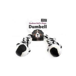 Ruff 'N' Tumble Tennis Ball & Rope Dumbell