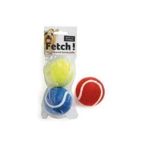 Ruff 'N' Tumble Fetch! 2 Coloured Tennis Balls