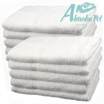 10 x Small White cotton Towels Perfect size for whelping puppies and kittens