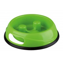 Slow Feed Plastic Bowl Dog 1.5 l/ø 27 cm - GREEN