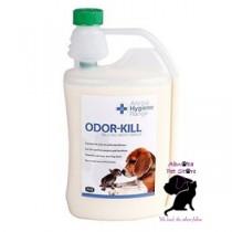 1 litre Odor-Kill Powerful deodoriser eliminate ammonia doggy smells Male cat odour Bins