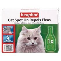 Beaphar Cat Spot On Repels Fleas 4 Week Protection