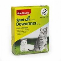 Bob Martin Cat Spot on Dewormer 4 X 20mg Pippettes