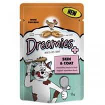 Dreamies Skin & Coat Treats – Chicken