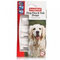 Beaphar Dog Flea & Tick Drops larger dogs over 15kg