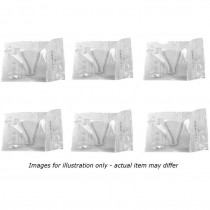 Sterile Umbilical Cord Clamps Qty 6 (Single Wrapped)