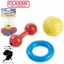 Classic Rubber Trio Mix, 3pk tough, hard wearing & extremely durable Dog Toys
