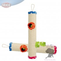 Trixie Playing Roll sisal/fleece 2 toys on string hanging lying Cat Scratch Post