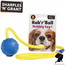 SMALL Sharples N Grant Rub 'r' Ball Nobbly Heavy Duty woven fibre rope Dog Toy