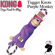 PURPLE MONKEY Small/ Medium Kong Tugger Knots interactive tug & shake toys dogs love knotted ropes inside