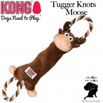 MOOSE LARGE Kong Tugger Knots interactive tug & shake toys dogs love knotted ropes inside