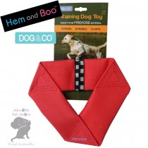 RED Hem & Boo FIREHOSE FLYER Strong Durable Floats Dog & Co Training Toy Nylon Shell