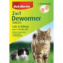 Bob Martin Cat 2 in 1 Dewormer (2 Tablets/Treatments)