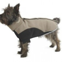 Ancol Muddy Paws Xtra Warmth Thermal Fleece Coat Taupe/Black – X-Large