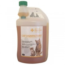 1 LITRE Cat Disinfectant for all areas around home Kills viruses bacteria fungi & yeasts