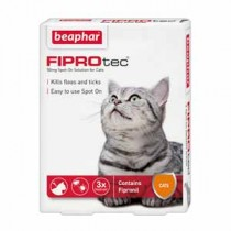 FIPROtec® Spot-On for Cats – By Beaphar – 3 Treatment Pack