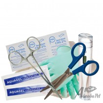 BUDGET Whelping Kit – Tray, Gloves, Forceps, Wipes, Lube, Thermometer & Scissors (359)