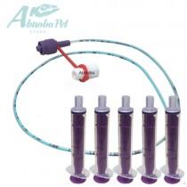 NEW LONGLIFE Tube Feeding Kit - 4 French Tube, (1.33mm) 5 x 5ml Syringes
