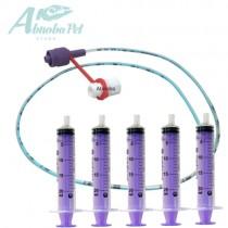 NEW LONGLIFE Tube Feeding Kit - 4 French Tube, (1.33mm) 5 x 20ml Syringes
