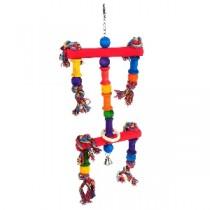 Happy Pet juggler Parrot Toy 100% Natural Fun & Colourful