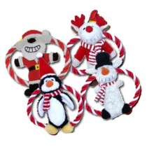 Happypet Xmas Dog Toy Frisbee Santa,Rudolph,Penguin,Snowman