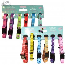 12 Puppy Whelping Collars 6 Hearts & 6 Spots Design - XS 15-25cm