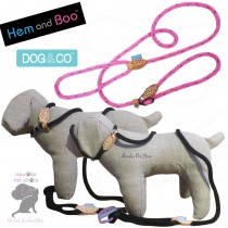 "60"" 14mm, PINK - Hem & Boo Dog & Co Soft Touch Rope Collar & lead in one Figure 8 Halter Option"