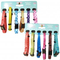 12 Puppy Whelping Collars 6 Spots & 6 Stars Design - XS 15-25cm