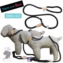 "60"" 14mm, BLACK - Hem & Boo Dog & Co Soft Touch Rope Collar & lead in one Figure 8 Halter Option"