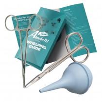 Essential Puppy Kitten Whelping Kit Supplies Forecps Scissors Bulb Aspirator (208)